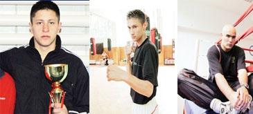 Trei boxeri români au fost opriti de fortele de securitate pentru tentativa de furt. Bogdan Dinu (21 de ani), Ronald Gavril (21 de ani) si Iulian Stan (20 de ani) au îndesat într-o sacosa cu care venisera de afara câteva caciuli, manusi si perechi de adidasi.
