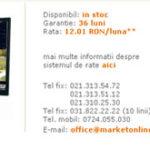 "Monitor de 20"" cu 380 RON?"