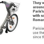 Bicicletele gratuite din Paris au fost gasite in Romania