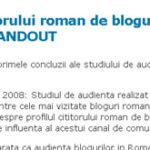 Profilul cititorului roman de bloguri
