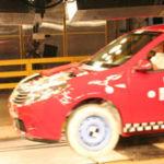Crash-test cu Dacia Sandero la Mioveni