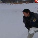 Lacurile inghetate pot fi periculoase