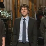 Mark Zuckerberg meets Jesse Eisenberg for first time on SNL
