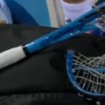 Patru rachete de tenis distruse intr-un singur meci