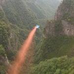 Wingsuit BASE Jumping: Cateva imagini din China