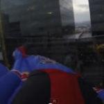 Urban wingsuit flying into Rio de Janeiro