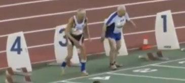 O cursa atletica intre doi veterani