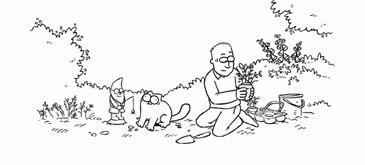 Flower Bed - Simon's Cat