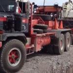 Transportul unei macarale de mare tonaj…