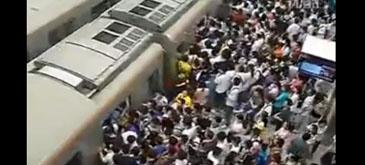 Cati chinezi incap intr-un tren