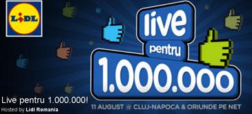 LIDL Live pentru 1 000 000 de fani