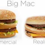 Reclamele McDonald's vs. crunta realitate