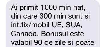 Cadou 1000 minute nationale internationale valabile 3 luni de la Orange