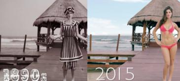 Evolutia bikinilor din 1890 si pana in prezent