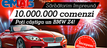 eMAG sarbatoreste 10 milioane de comenzi – premiu BMW Z4