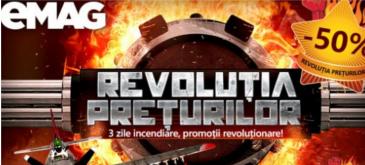 Revolutia Preturilor la eMAG - trei zile incendiare cu super-promotii