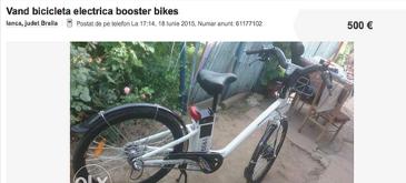 Vand bicicleta electrica pe olx.ro (nu-i furata din Madrid, ma jur!)