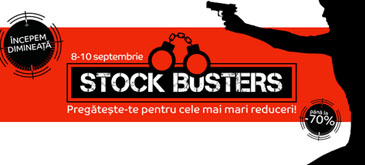 Stock Busters - editia de toamna la eMAG (8-10 Septembrie)
