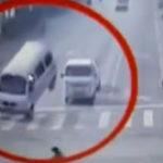 Un accident bizar in China