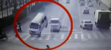 Un accident bizar in China