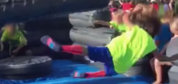 Boy Fails At Obstacle Course