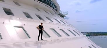 Freerunning pe Harmony of the Seas